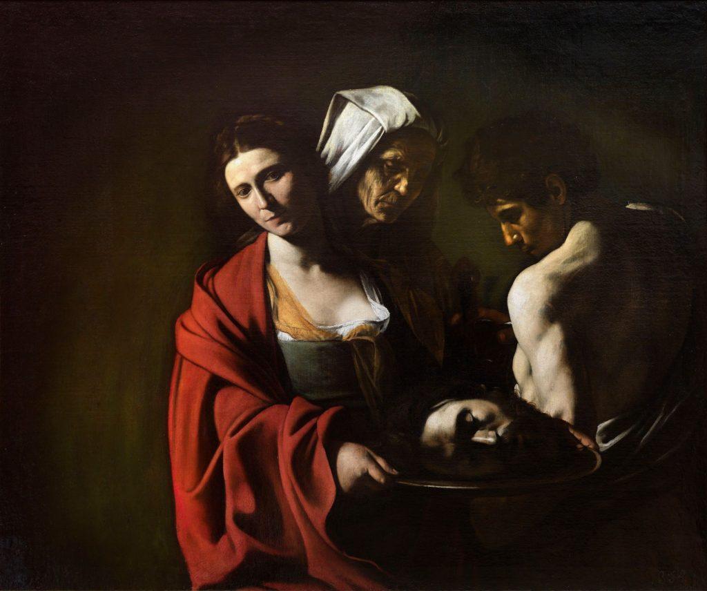 Salome with the Baptist's head Caravaggio